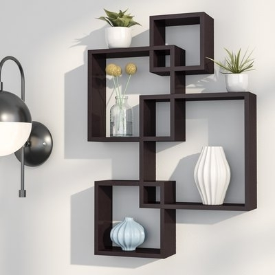 Most Current Langley Street Elizabella Intersecting Cubes Shelf & Reviews (View 6 of 15)
