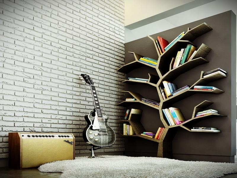 Most Current Modern Tree Bookshelf Design For Large Bookshelf In The Brown Intended For Tree Bookcases (View 5 of 15)