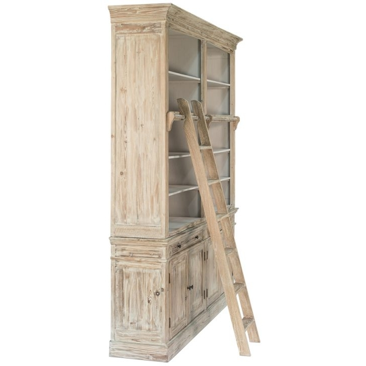 Most Current Noci Shelving Unit In Solid Pine Antique, Graphite Or Whitewash Inside Whitewash Bookcases (View 9 of 15)