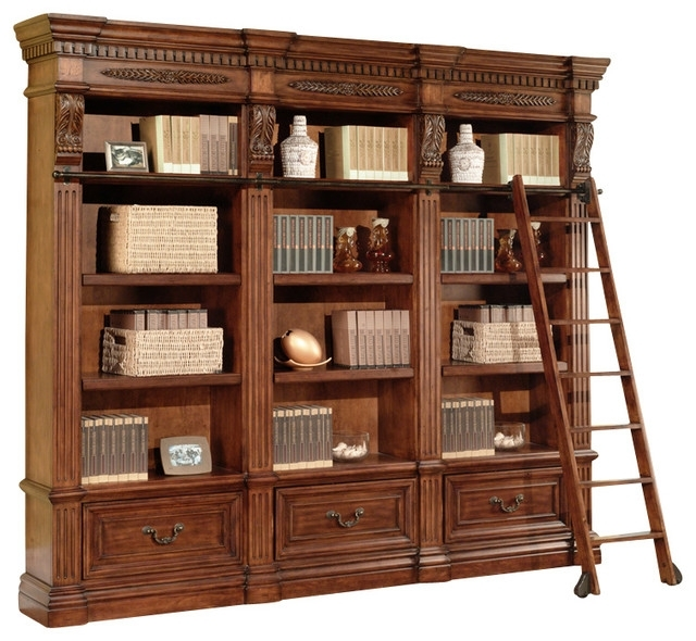 Most Current Parker House – Granada 3 Piece Museum Bookcase, Antique Vintage In Traditional Bookcases (View 11 of 15)