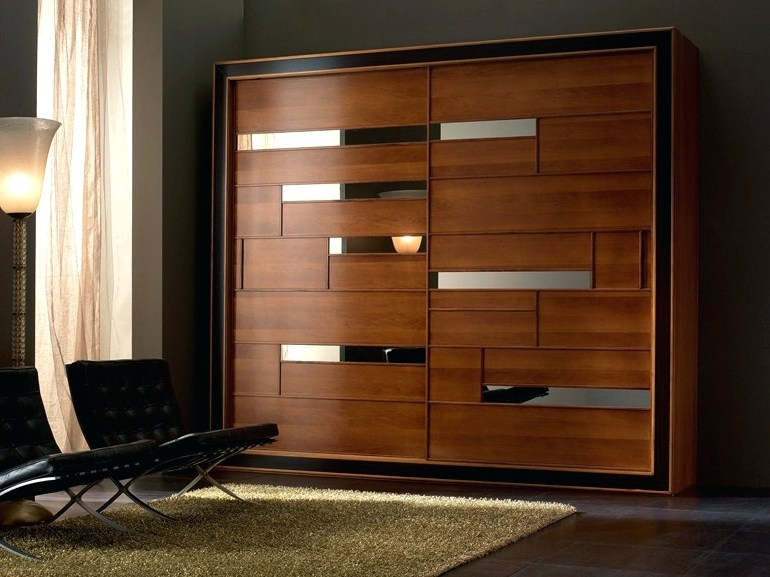 Most Current Solid Dark Wood Wardrobes In Wardrobes ~ Solid Wood Wardrobe With Sliding Doors Elettra Night (View 3 of 15)