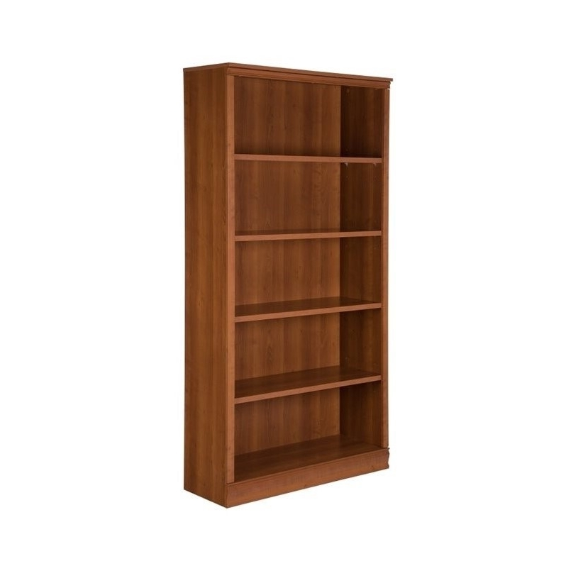 Most Current South Shore 5 Shelf Bookcases Intended For South Shore Morgan 5 Shelf Bookcase In Morgan Cherry –  (View 4 of 15)