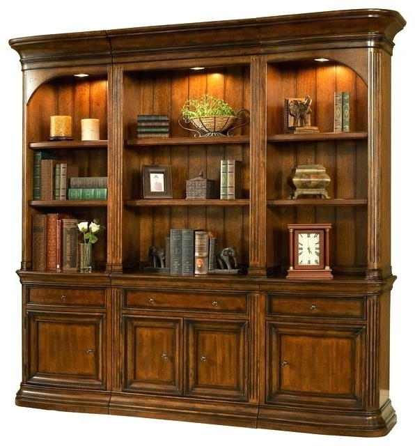 Most Current Traditional Bookcases For Handmade Bookcase Winsome Lighted Bookcase Wall Traditional (View 13 of 15)