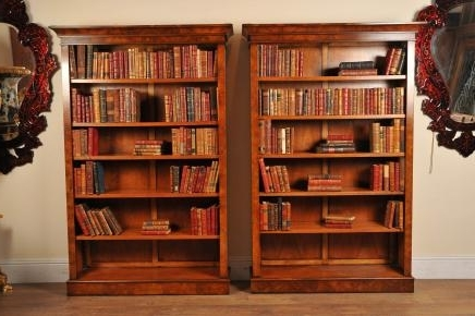 Most Current Walnut Bookcases Intended For Walnut Bookcases – Canonbury Antiques (View 4 of 15)