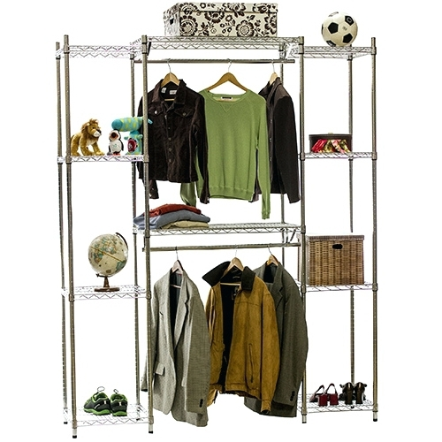 Most Current Wardrobes ~ Double Wardrobe Hanging Rail And Supports Close Intended For Tall Double Hanging Rail Wardrobes (View 5 of 15)