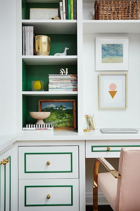 Most Current White Painted Bookcases Within Painted Bookcase Back – Transitional – Den/library/office (View 9 of 15)