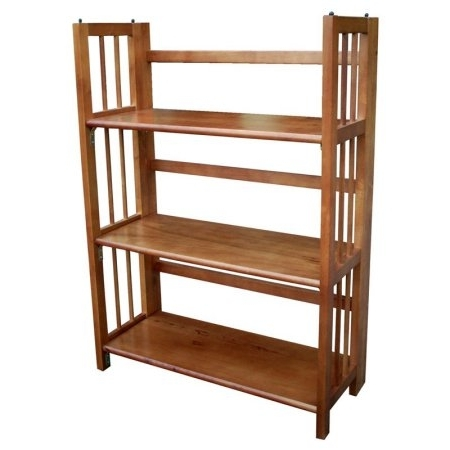 Most Popular 3 Shelf Bookcases Walmart Intended For Folding Wooden Bookshelves 3 Tier Stackable Bookcase Walmart Com (View 10 of 15)