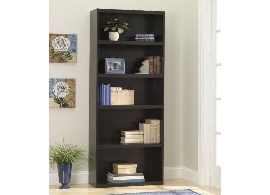 Most Popular Ameriwood 5 Shelf Bookcase 9602207P Regarding Ameriwood 5 Shelf Bookcases (View 7 of 15)