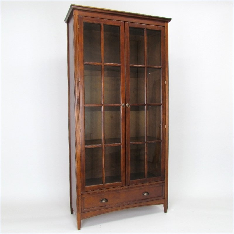 Most Popular Barrister Bookcase With Glass Door In Brown (View 9 of 15)