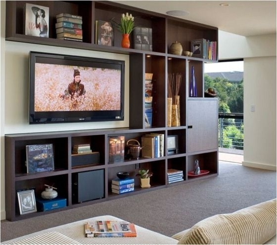 Most Popular Bookshelf With Tv Space – Kwameanane Pertaining To Bookshelves Tv (View 13 of 15)