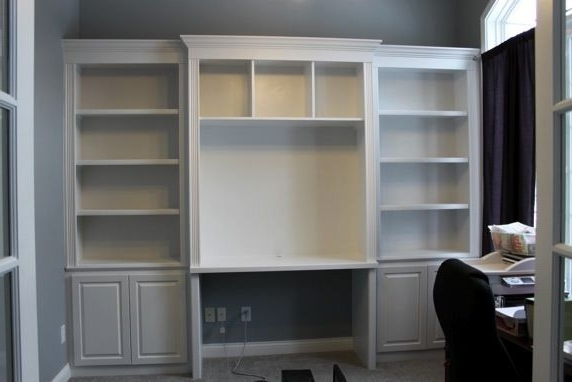 Most Popular Desk With Matching Bookcases Within Bookshelves With Desk Built In (View 12 of 15)
