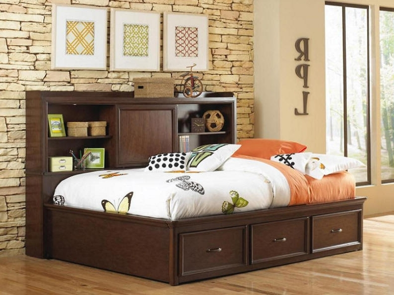 Most Popular Headboard Full Bookcases For Bookcase Headboard Full Size Bed With Storage Wonderful Full Size (View 11 of 15)