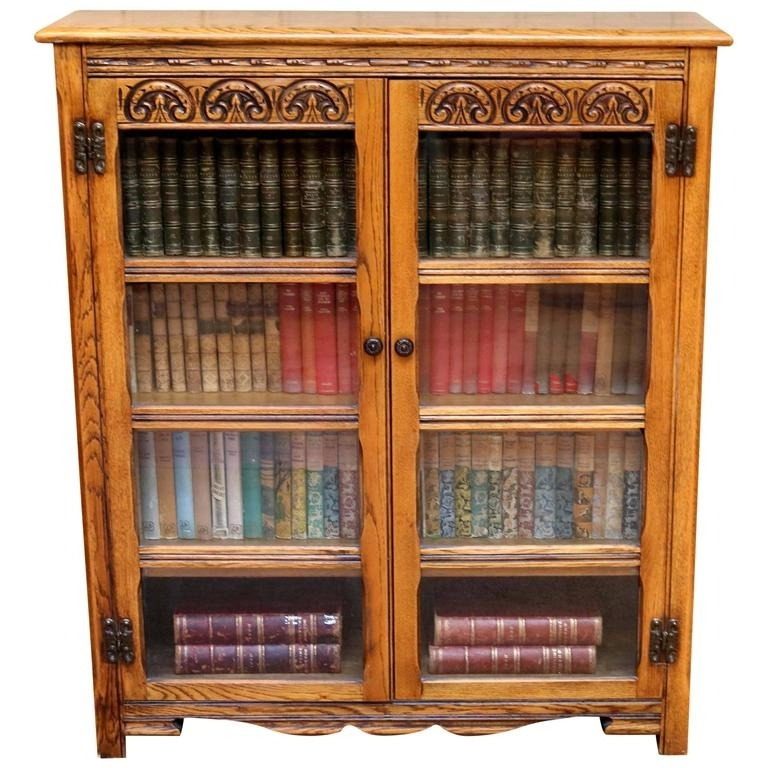 Most Popular Oak Glazed Bookcases With Regard To Solid Oak Glazed Bookcase For Sale At 1Stdibs (View 10 of 15)