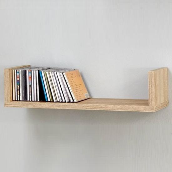 Most Popular Oak Wall Shelves Throughout Modern Oak Bookcase, Oak Wall Mounted Shelves Living Room Wall (View 9 of 15)