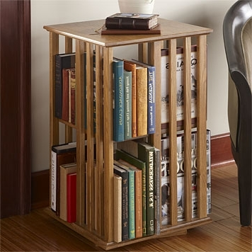 Most Popular Revolving Bookcase Table / Shaker Style Revolving Bookcase — Orvis In Rotating Bookcases (View 14 of 15)