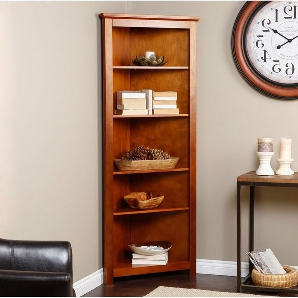 Most Popular Small Corner Shelf Unit Wood Space Saving Living Room Furniture For Corner Oak Bookcases (View 11 of 15)