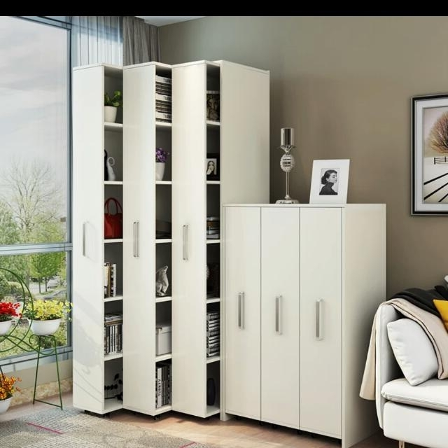 Most Popular Space Saving Bookshelf, Home & Furniture, Furniture, Cabinets For Space Saving Wardrobes (View 4 of 15)