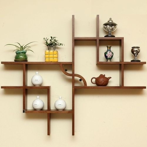 Most Popular Wooden Wall Shelves Regarding Wooden Wall Shelves – Manufacturer From Pune (View 2 of 15)
