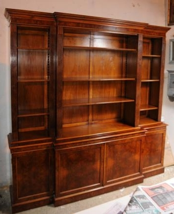 Most Recent Antique Breakfront Bookcases Throughout Break Front Bookcases (View 4 of 15)