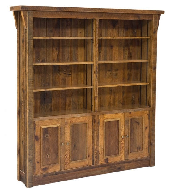 Most Recent Barnwood Bookcase, Reclaimed Bookcase, Antique Wood Bookcase Intended For Wood Bookcases (View 6 of 15)