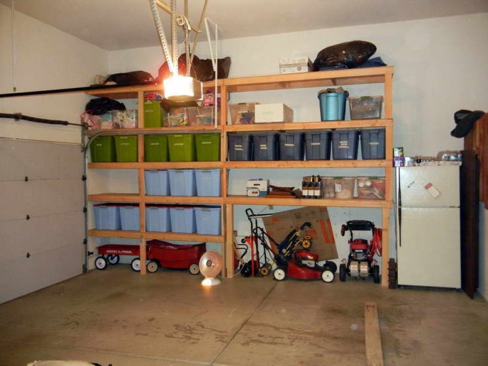 Most Recent Free Standing Shelving Units Wood With Garage Shelving – Here Is A Free Standing Wooden Gara (View 11 of 15)