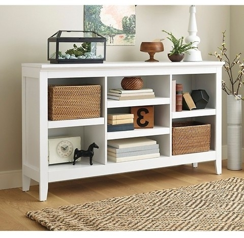 Most Recent Horizontal Bookcases With Regard To Threshold Carson Horizontal Bookcase (6 Finishes) – Target (View 10 of 15)