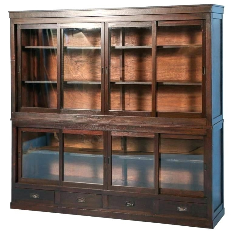Most Recent Large Wooden Bookcases For Large Wood Shelves Large Reclaimed Wooden Bookcase With Vertical (View 13 of 15)