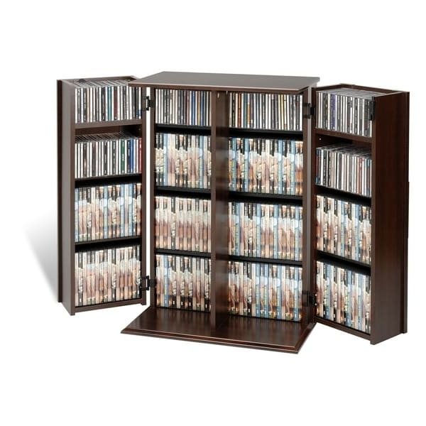 Most Recent Locking Bookcases Regarding Everett Locking Dvd/ Cd Media Storage Cabinet – Free Shipping (View 10 of 15)