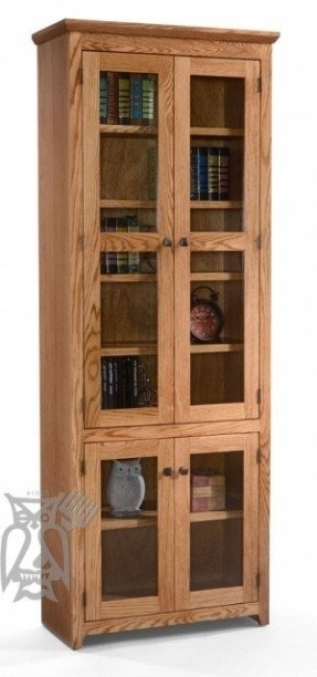 Most Recent Oak Bookcases With Doors – Foter In Oak Bookcases (View 4 of 15)
