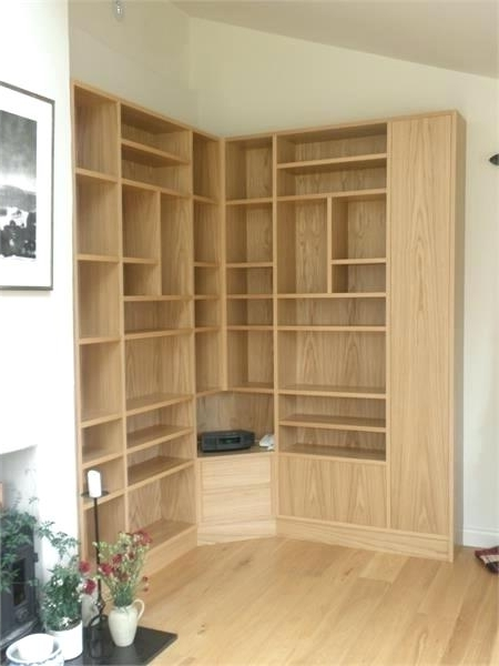 Most Recent Oak Corner Bookcase – Simpleclick With Regard To Corner Oak Bookcases (View 12 of 15)
