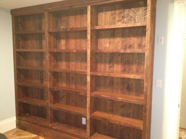 Most Recent Pine Bookcases Intended For Reclaimed Pine Bookcases Eclectic Living Room Other Metro Pine (View 8 of 15)