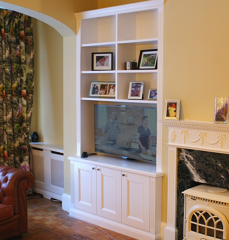 Most Recent Radiator Bookcases Regarding Traditional Alcove Bookcases And Radiator Covers, Wimbledon (View 14 of 15)
