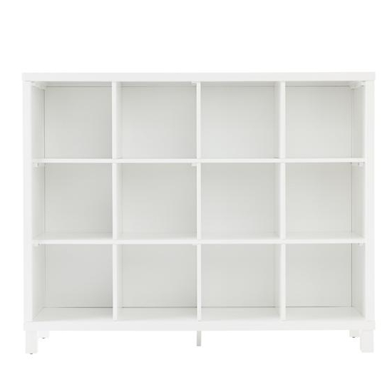 Most Recent Tall White Bookcases With Regard To Cubic Tall Bookcase (white, 12 Cube) (View 4 of 15)