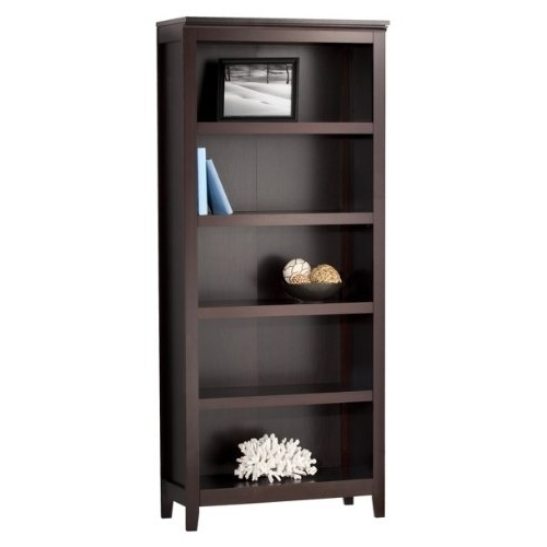 Most Recent Target Bookshelves Espresso 6 Shelf Bookcase Prepac 13 5 Review Throughout Espresso Bookcases (View 8 of 15)
