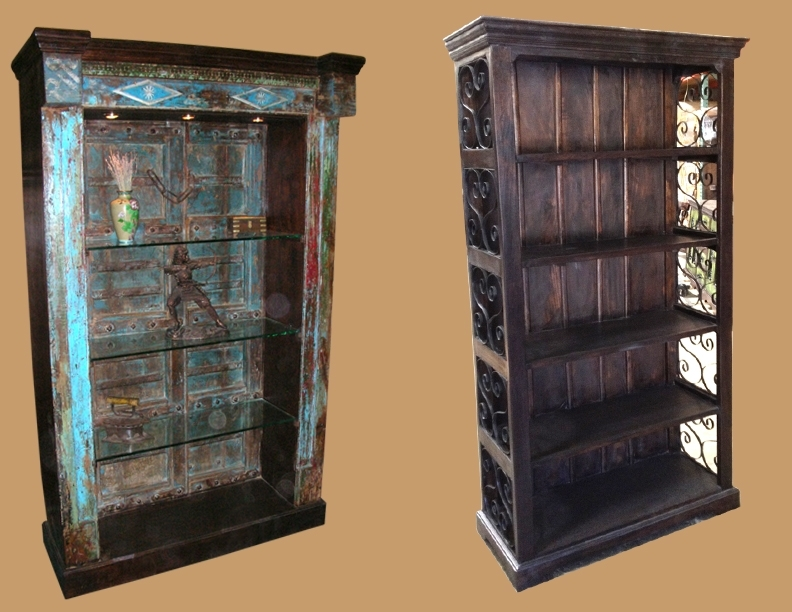 Most Recent The Wood We Use To Make The Rustic Solid Wood Bookcases Is Either Regarding Large Wooden Bookcases (View 12 of 15)