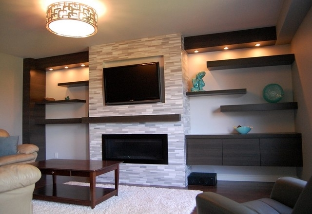Most Recent Wall Units – Contemporary – Living Room – Toronto  Cabinet With Wall Units For Living Room (View 6 of 15)