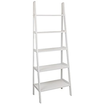 Most Recent White Ladder Shelf With Regard To Amazon: Casual Home 176 51 5 Shelf Ladder Bookcase, White (View 5 of 15)