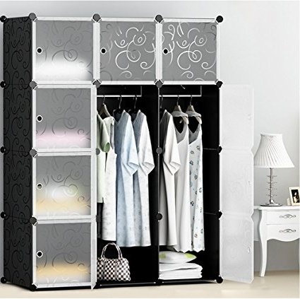 Most Recently Released Amazon: Megafuture Portable Wardrobe For Hanging Clothes Inside Space Saving Wardrobes (View 9 of 15)