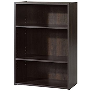 Most Recently Released Amazon: Sauder Beginnings 3 Shelf Bookcase In Cinnamon Cherry With Regard To 3 Shelf Bookcases (View 9 of 15)