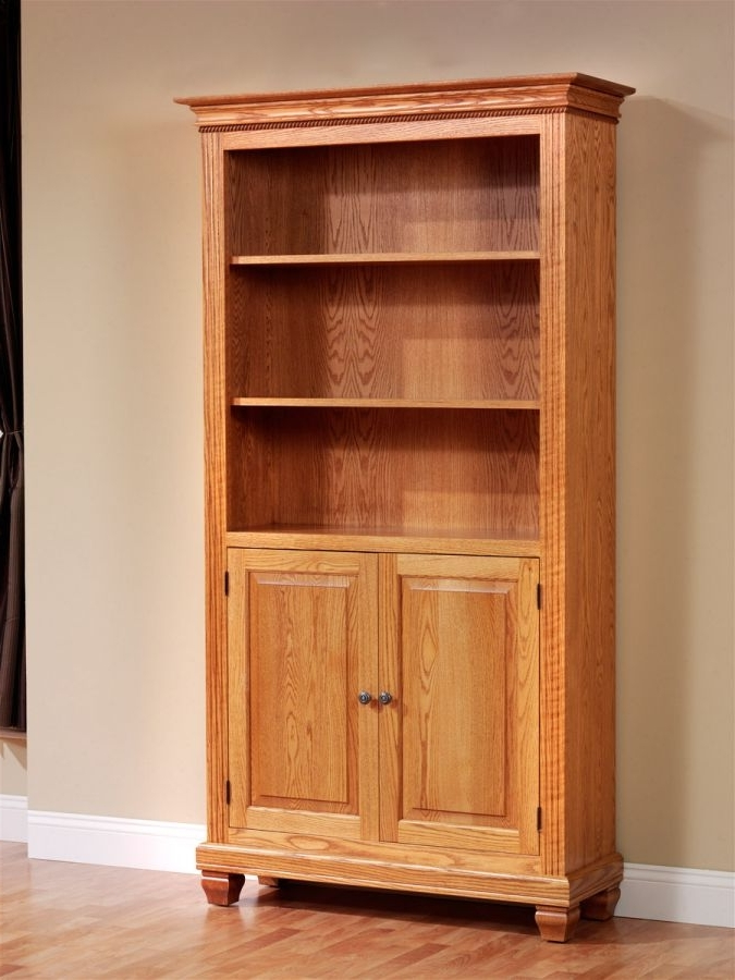 Most Recently Released Bookcases With Doors On Bottom For Attractive Found In Ithaca Mission Oak Glass Door Bookcase Sold (View 13 of 15)