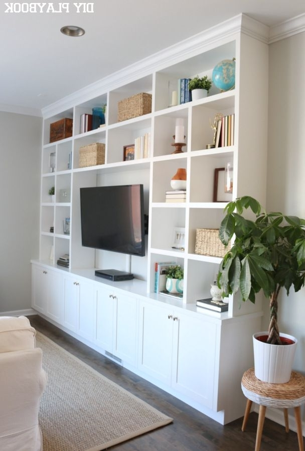 Most Recently Released Bookshelves With Tv Space Inside Family Room Built Ins Custom To The Wall (View 7 of 15)