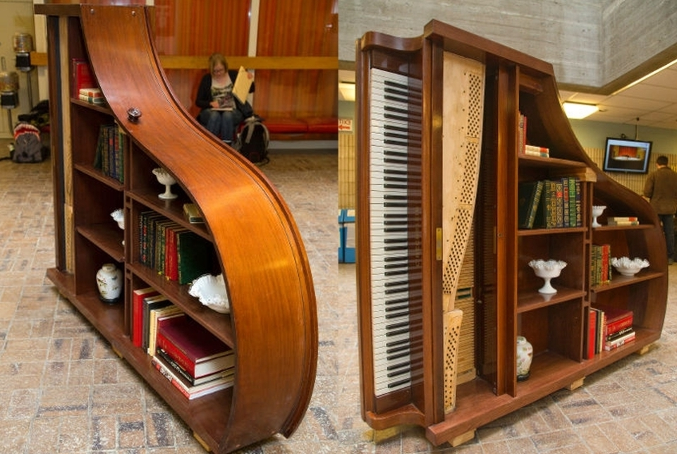 Most Recently Released Creative Ways To Repurpose Old Piano Into Something New And Exciting For Repurpose Bookcases (View 14 of 15)