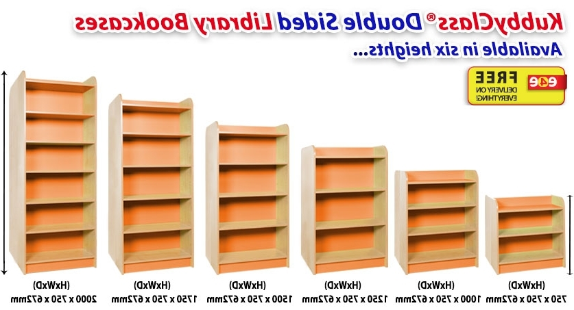 "Most Recently Released Double Sided Bookcases With Kubbyclass® Premium ""classic"" Library Range (View 11 of 15)"