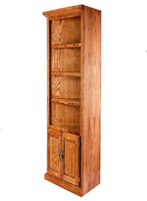 Most Recently Released Forest Designs – Traditional Oak Corner Bookcase, Lower Doors Within Corner Oak Bookcases (View 4 of 15)