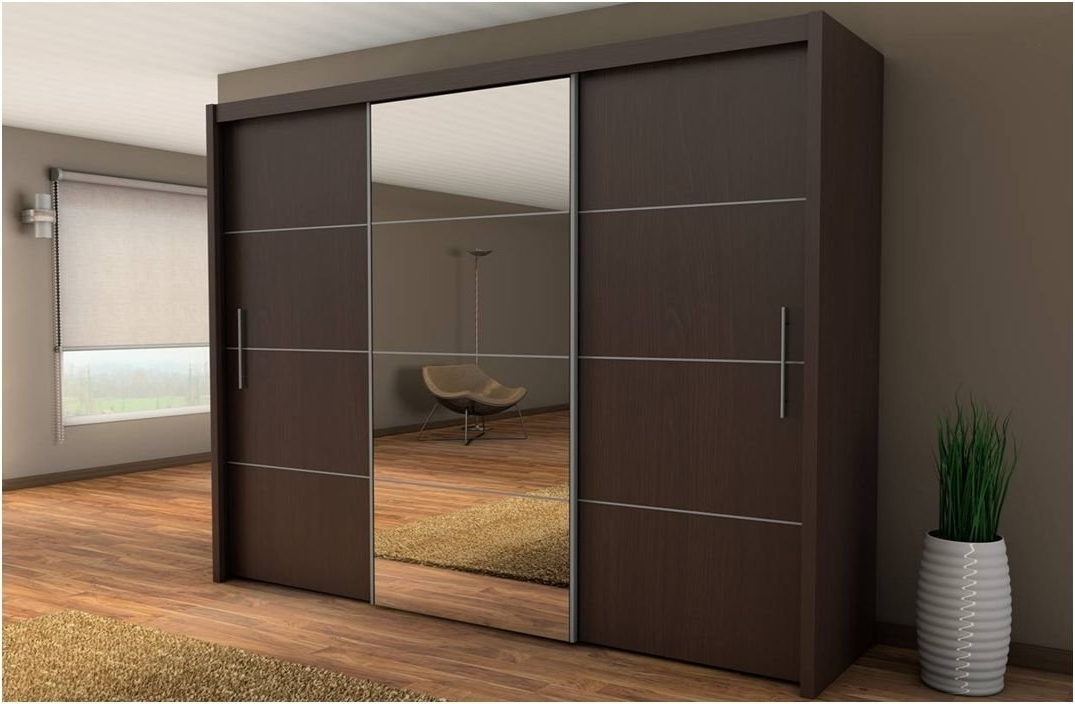 Most Recently Released Inova Sliding Door Wardrobe Wenge Dark Brown 250Cm  Furniture With Dark Wardrobes (View 7 of 15)