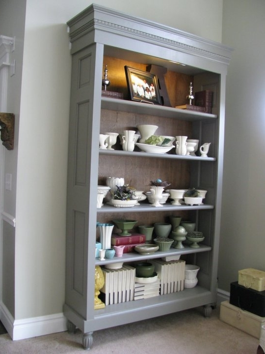 Most Recently Released Repurpose Bookcases In Repurposed Doors — Projects Using Vintage Wood Doors (View 8 of 15)