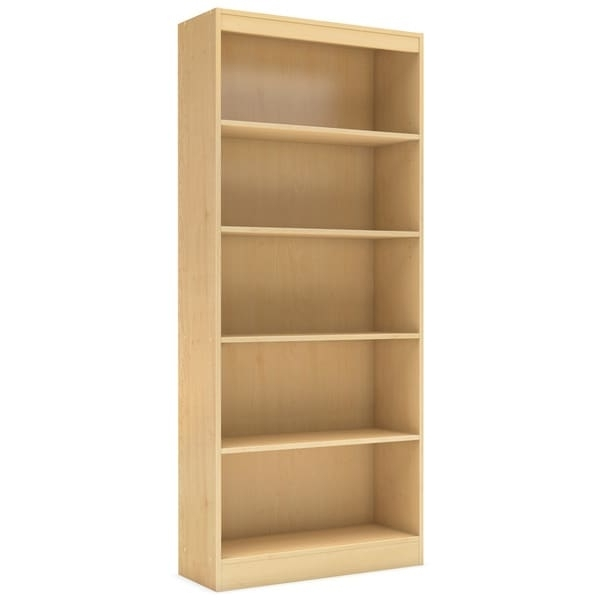 Most Recently Released South Shore 5 Shelf Bookcases Intended For South Shore Axess 5 Shelf Natural Maple Bookcase – Free Shipping (View 5 of 15)
