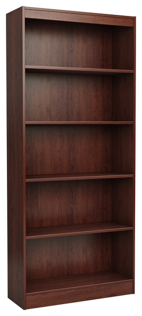 Most Recently Released South Shore 5 Shelf Bookcases With South Shore Furniture – South Shore 5 Shelf Bookcase, Royal Cherry (View 6 of 15)