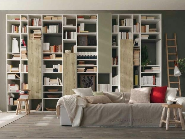 Most Recently Released Space Saving Room Furniture Placement Ideas, Putting Bookcases And Regarding Book Shelving Systems (View 3 of 15)