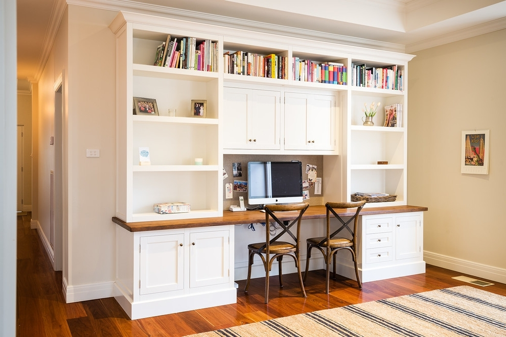 Most Recently Released Wall Units: Astonishing Bookshelves And Desk Built In Built In With Regard To Study Desk With Bookshelves (View 12 of 15)
